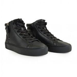 UGG Women's Olli High Top Sneaker- Black Leather